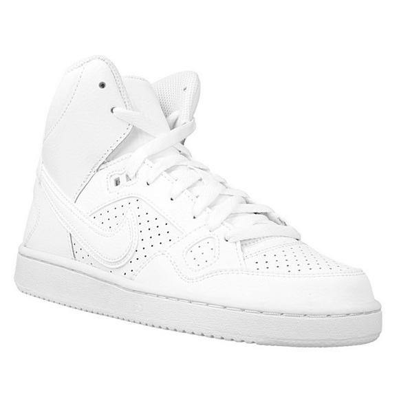 white nike high tops